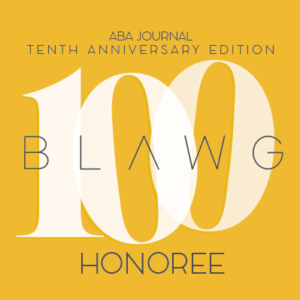 Editors Of The ABA Journal Announced Today They Have Selected MARLER BLOG As One Top 100 Best Blogs For A Legal Audience